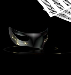note and mask vector image vector image