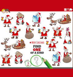 one a kind task for children with christmas vector image