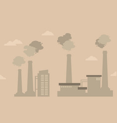pollution industry bad environment silhouettes vector image