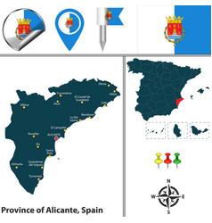 Province of alicante spain vector