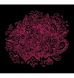 purple black floral abstraction vector image