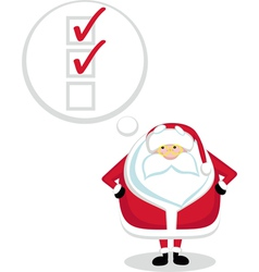 santa to-do list vector image