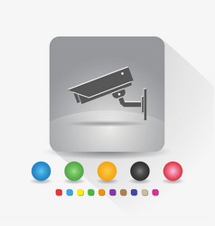 security camera icon sign symbol app in gray vector image