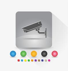 security camera icon sign symbol app in gray vector image