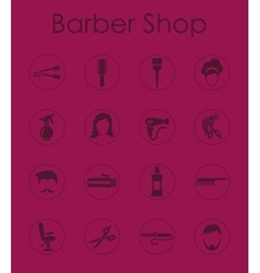 Set of barbershop simple icons vector