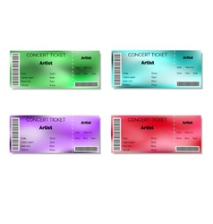 Set of color blurred concert tickets vector image