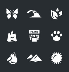 Set of enviroment protection icons vector