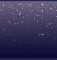 Sky background with glitter particles template vector