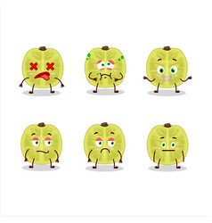 Slice amla cartoon character with nope expression vector