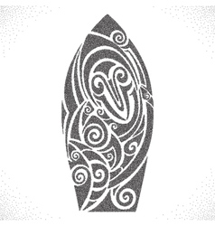 Surf board Dotwork pattern vector image