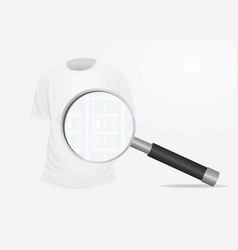 T shirt and magnifying glass vector