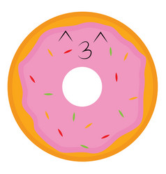tasty donut or color vector image