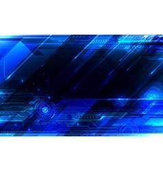 Tech blue abstraction vector