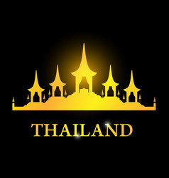 thailand card with the royal funeral pyre rama 9 vector image