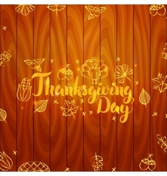 Thanksgiving Day Wooden Board vector