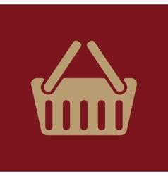 The basket shoping icon Shop Basket symbol Flat vector