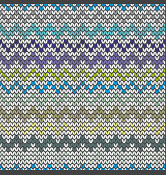 tile blue and grey zig zag knitting pattern vector image
