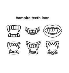 Tooth fangs vampire teeth icon for graphic and vector