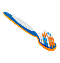 toothbrush icon cartoon style vector image
