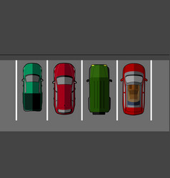 top view of a parking vector image