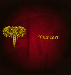 tribal pattern with elephant ethnic indian vector image