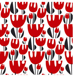 tulips color seamless pattern vector image