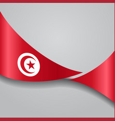 Tunisian wavy flag vector