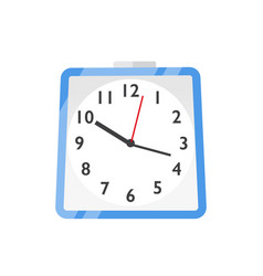 wall clock watches flat vector image