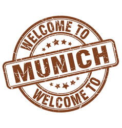 Welcome to munich vector