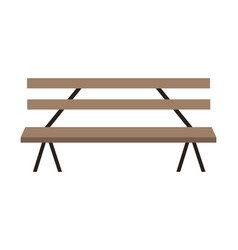 wooden park bench craft isolated vector image