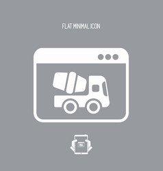 Work in progress - flat minimal icon vector