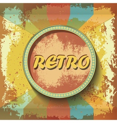 Abstract retro banner on grunge background vector image