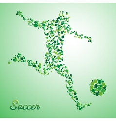 Abstract soccer player vector image vector image
