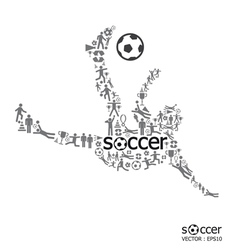 active soccer player shape vector image vector image