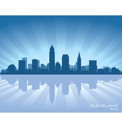 Cleveland Ohio skyline vector image vector image
