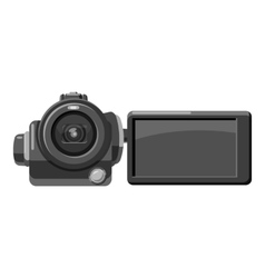Digital video camera icon gray monochrome style vector image