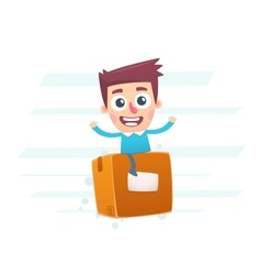 Express mail delivery worldwide vector image