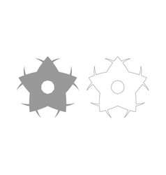flower the grey set icon vector image vector image