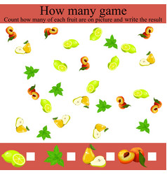 how many objcets game vector image