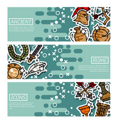 set of horizontal banners about ancient rome vector image vector image