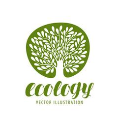 ecology environmental protection nature logo or vector image vector image