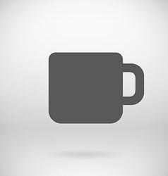 Flat Coffee Mug Tea Cup Icon Symbol Background vector image