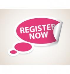 register now label vector image vector image