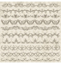 Set of Lace Paper border frame vector image