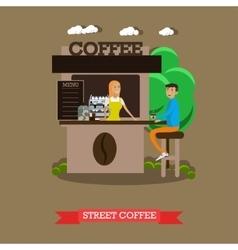 Street coffee shop concept banner Takeaway vector image vector image