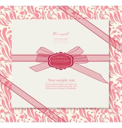 Vintage background for invitation card vector image vector image
