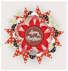 Christmas edition design element vector image vector image