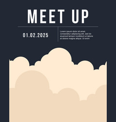 cool colorful background with cloud meet up card vector image vector image