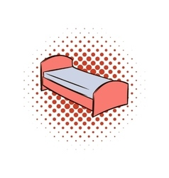 Single bed comics icon vector image vector image