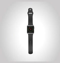 apple watch sport 42mm with black sport vector image
